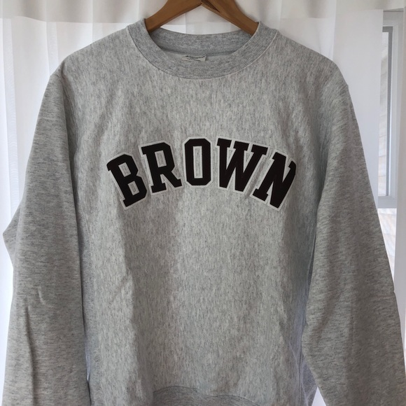 7a20e9284c4b Champion Tops | Brown University Crewneck Sweatshirt Nwot | Poshmark